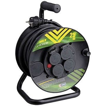Emos Gumový prodlužovací kabel na bubnu - 4 zásuvky 25m