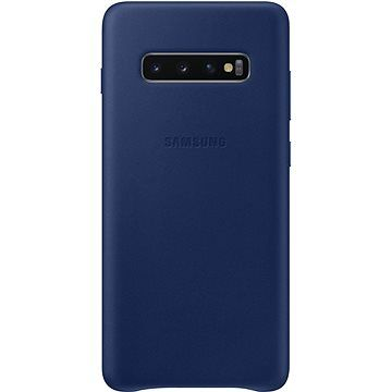 Samsung Galaxy S10+ Leather Cover námořnicky modrý