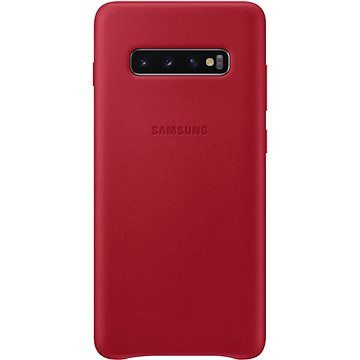 Samsung Galaxy S10+ Leather Cover červený