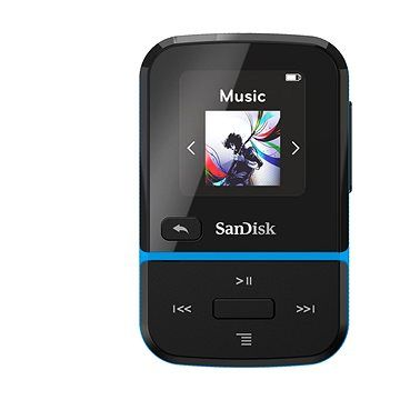 SanDisk MP3 Clip Sport GO 16 GB modrá
