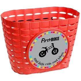 FirstBike košík červený