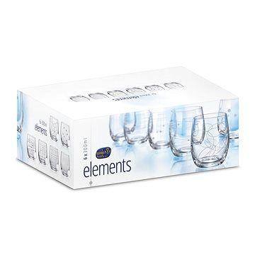 BOHEMIA CRYSTAL Crystalex Sklenice na vodu/whisky 300ml 6ks ELEMENTS