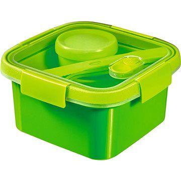 Curver SMART TO GO 1,1l s příborem, mističkou a táckem - zelená cena od 149 Kč