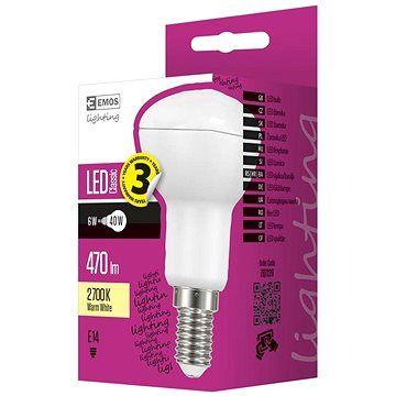 EMOS LED žárovka Classic R50 6W E14 teplá bílá
