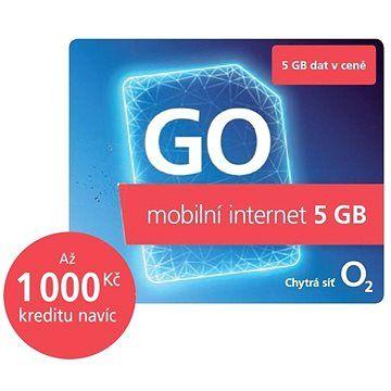 O2 Předplacená karta GO Mobilní Internet 5 GB
