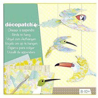 Avenue Mandarine Velký kreativní box Decoupage ptáci