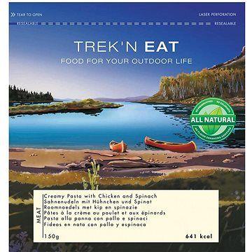 Trek n eat Trek'n eat Těstoviny s křehkým kuřetem, smetanou a listovým špenátem