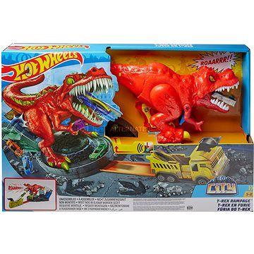Mattel Hot Wheels City T-Rex řádí