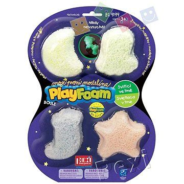 PlayFoam Boule 4pack - svítící
