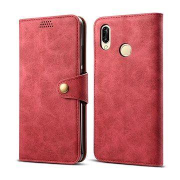 Lenuo Leather pro Huawei P30 lite, červené