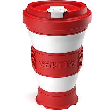 POKITO Skládací šálek na kávu 3v1 třešňový