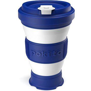 POKITO Skládací šálek na kávu 3v1 borůvkový