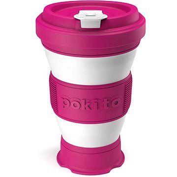 POKITO Skládací šálek na kávu 3v1 malinový
