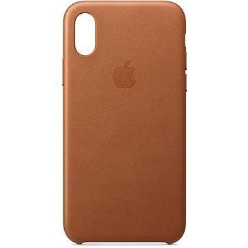 Apple iPhone XS Kožený kryt sedlově hnědý