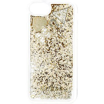 Guess New Glitter Hearts pro iPhone 8 Gold