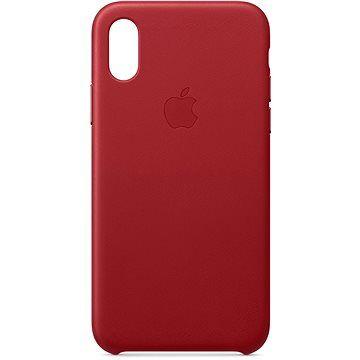 Apple iPhone XS Kožený kryt červený