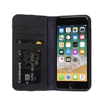 Decoded Leather Wallet Case Black iPhone 8/7/6s