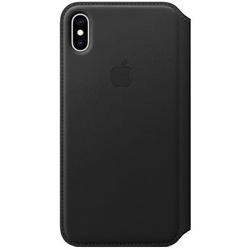 Apple iPhone XS Max Kožené pouzdro Folio černé