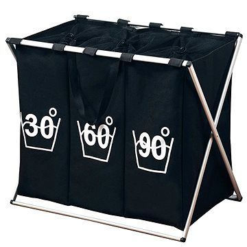 Kesper Koš na špinavé prádlo - tříděný černý cena od 583 Kč