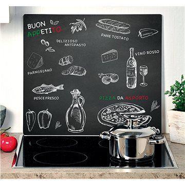 Kesper Multifunkční skleněná deska motiv ristorante 56x50cm