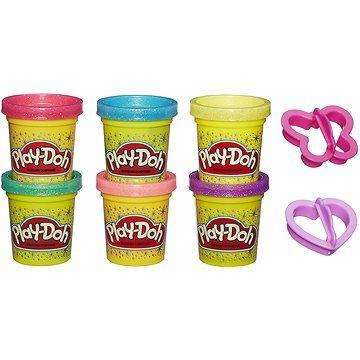 Hasbro Play-Doh Třpytivá sada 6ks cena od 209 Kč