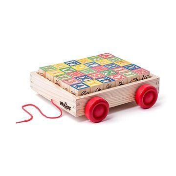Woody Vozík s kostkami/razítky ABC cena od 255 Kč