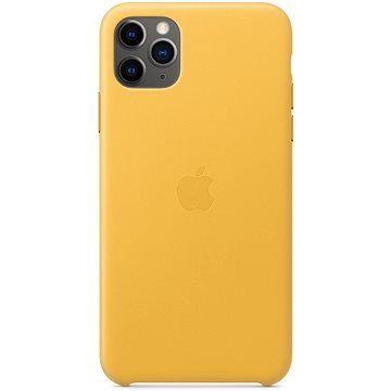 Apple iPhone 11 Pro Max Kožený kryt hřejivě žlutý