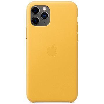 Apple iPhone 11 Pro Kožený kryt hřejivě žlutý