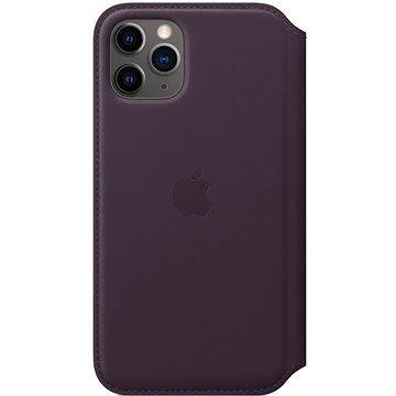 Apple iPhone 11 Pro Kožené pouzdro Folio lilkové