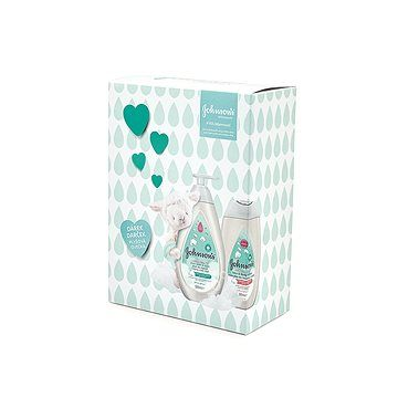 JOHNSON'S BABY Cotton Touch koupel 500 ml+ Cotton Touch mléko 300 ml + dárek