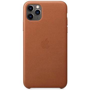 Apple iPhone 11 Pro Max Kožený kryt sedlově hnědý