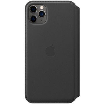 Apple iPhone 11 Pro Max Kožené pouzdro Folio černé