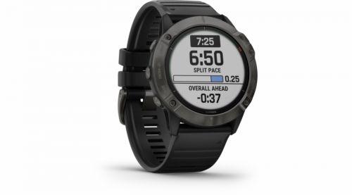 GPS hodinky Garmin fenix6X Solar (MAP/Music) černé/titanium (010-02157-21)