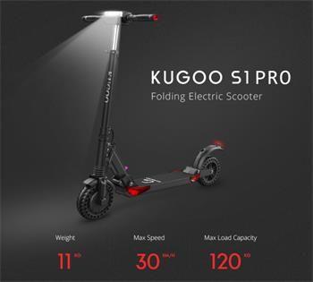 Elektrická koloběžka Kugoo S1 PRO černá
