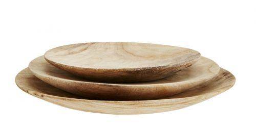 MADAM STOLTZ Dřevěné talíře Wood cena od 919 Kč