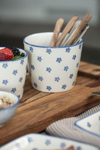 IB LAURSEN Latte cup Casablanca Bloom Blue 250 ml