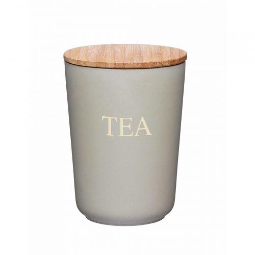 Kitchen Craft Bambusová dóza na čaj Grey