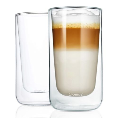 BLOMUS Set termosklenic na café latte NERO 320 ml