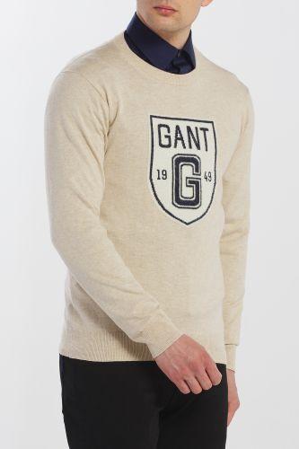 Gant Svetr Gant D2. Holiday Intarsia Shield Crew 8000103-619-Ga-194-M Šedá M cena od 4059 Kč