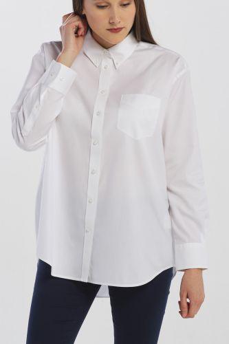Gant Košile Gant D1. Pinpoint Oxf Boyfriend Shirt 4300030-619-Gw-110-32 Bílá 32 cena od 2449 Kč