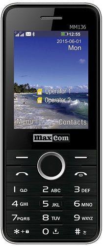 Maxcom MM136 Dual SIM černý cena od 0 Kč