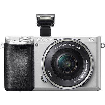 Sony Alpha A6300 stříbrná + objektiv 16-50mm cena od 23490 Kč