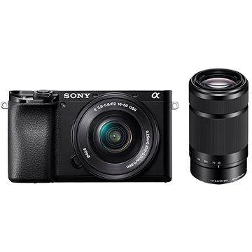 Sony Alpha A6100 černý + 16-50mm f/3.5-5.6 OSS SEL + 55-210mm f/4.5-6.3 SEL cena od 27990 Kč