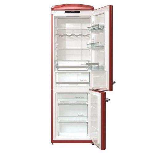 Chladnička s mrazničkou Gorenje Retro ONRK193R vínová