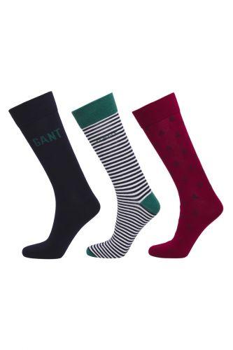 Gant Ponožky Gant D2. 3-Pack Mixed Giftbox 9960102-619-Gc-410-0 Modrá