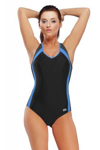 GWINNER Dámské jednodílné plavky Dora modročerná 36 cena od 1029 Kč