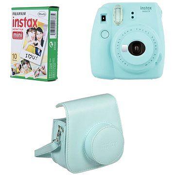 Fujifilm Instax Mini 9 světle modrý + 10x fotopapír + pouzdro cena od 2108 Kč