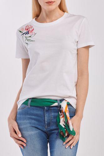 Gant Tričko Gant D1. Peonies Ss T-Shirt 4203446-320-Gw-113-Xs Bílá Xs