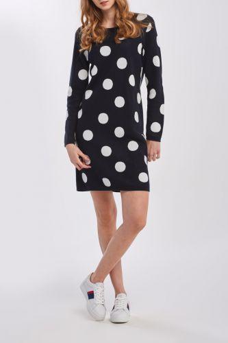 Gant Šaty Gant D1. Intarsia Polka Dot Dress 4502024-320-Gw-433-Xs Modrá Xs