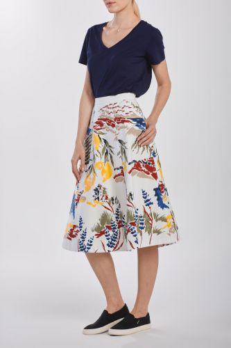 Gant Sukně Gant D2. Riviera View Printed Skirt 4400037-320-Gw-113-34 Bílá 34